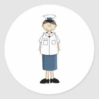Coast_guard_girl Classic Round Sticker