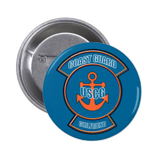 Coast Guard Girlfriend Anchor Emblem Pinback Button