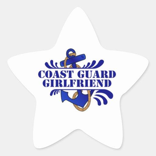 Coast Guard Girlfriend, Anchors Away! Star Sticker