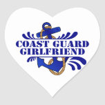 Coast Guard Girlfriend, Anchors Away! Heart Sticker