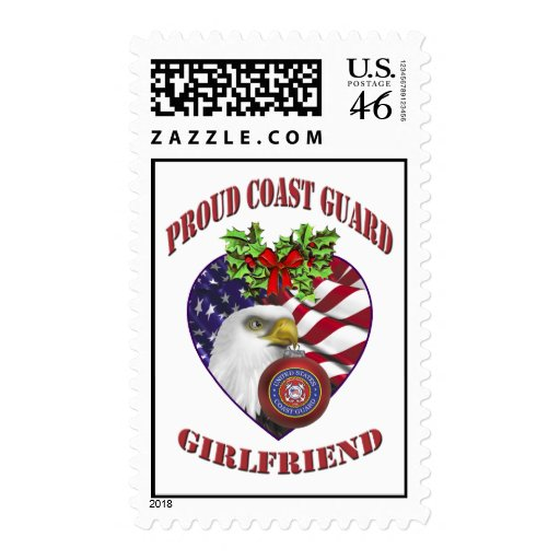 Coast Guard Girlfriend Christmas Postage Stamps