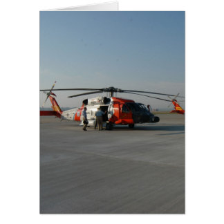 Coast Guard Helicopter Card