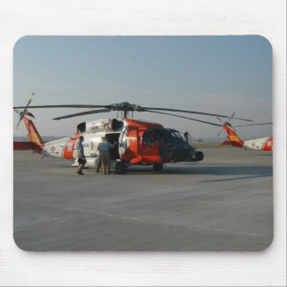 Coast Guard Helicopter Mouse Pad