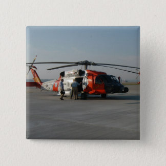 Coast Guard Helicopter Pinback Button