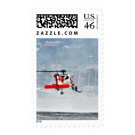 Coast Guard Helicopter Postage Stamps