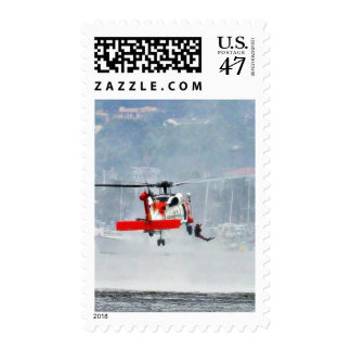 Coast Guard Helicopter Postage Stamp