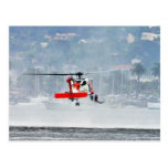 Coast Guard Helicopter Postcard