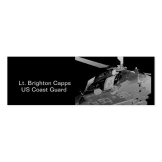 Coast Guard Helicopter Rescue in Silver Double-Sided Mini Business Cards (Pack Of 20)
