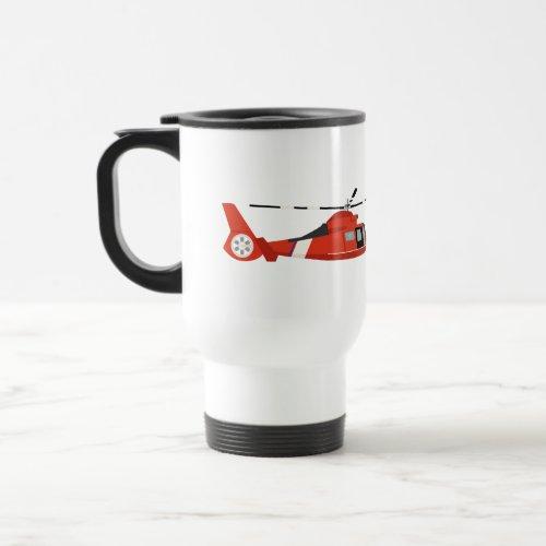 Coast Guard Helicopter Travel Mug