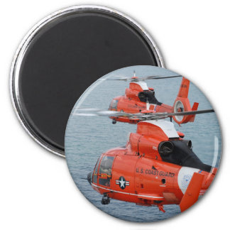 Coast Guard Helicopters 2 Inch Round Magnet
