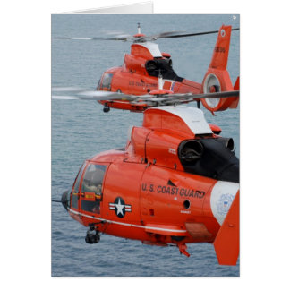 Coast Guard Helicopters Card