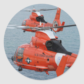 Coast Guard Helicopters Classic Round Sticker