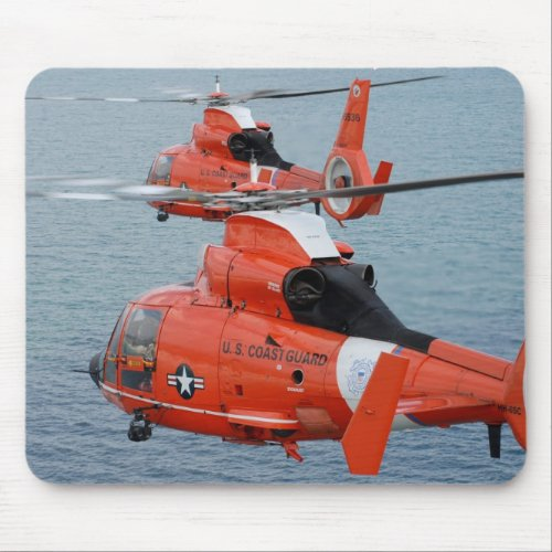 Coast Guard Helicopters Mouse Pad