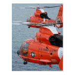 Coast Guard Helicopters Post Card