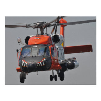 Coast Guard HH60 Jayhawk Helicopter Poster