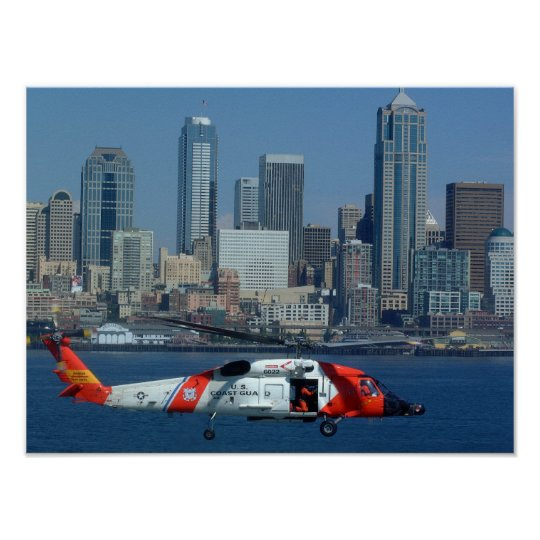 Coast Guard HH-60 Jayhawk Helicopter Poster