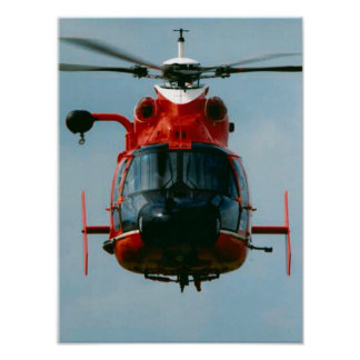 Coast Guard HH-65 Dolphin Helicopter Poster