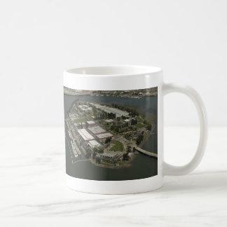 Coast Guard Island aerial photograph Coffee Mug