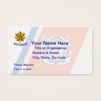 Coast Guard Lt. Commander Retired Business Card