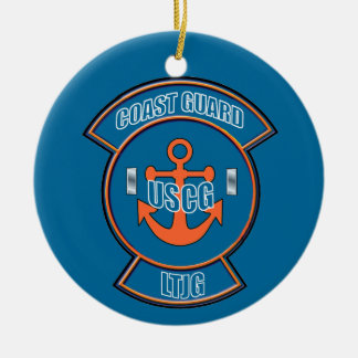 Coast Guard LTjg Anchor Emblem Ceramic Ornament