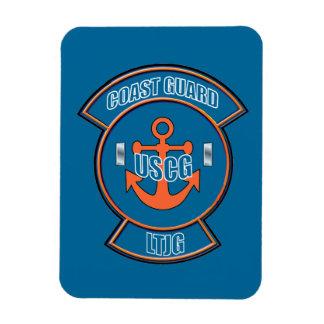 Coast Guard LTjg Anchor Emblem Rectangular Photo Magnet