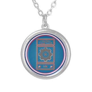 Coast Guard Machinery Technician Silver Plated Necklace