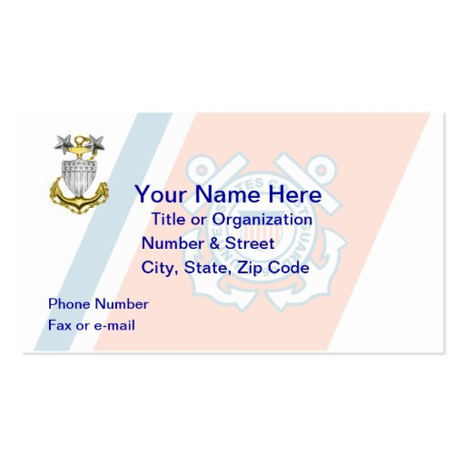 Coast Guard Master Chief Business Card