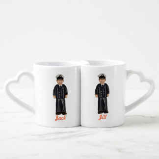 Coast Guard Master Chief Custom Lover's Mugs Couples Mug