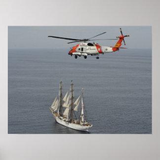 Coast Guard MH-60T Jayhawk & Cutter Eagle Poster