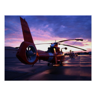 Coast Guard MH-65 Mako Helicopter Posters