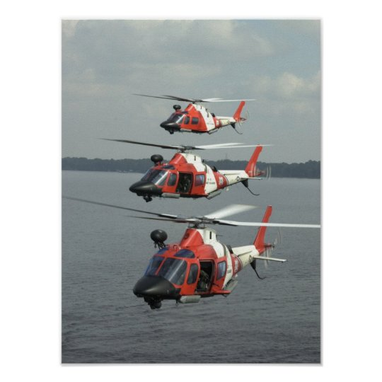 Coast Guard MH-68 Mako Helicopters Poster