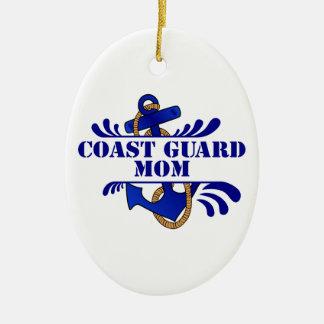 Coast Guard Mom, Anchors Away! Ornament
