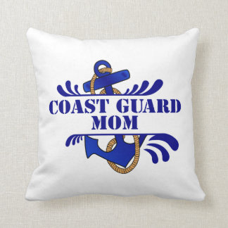 Coast Guard Mom, Anchors Away! Throw Pillow