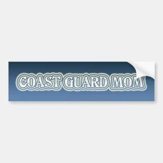 Coast Guard Mom Car Bumper Sticker