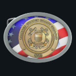 "Coast Guard Oval Belt Buckle<br><div class=""desc"">The United States Coast Guard (USCG) is a branch of the United States Armed Forces and one of the seven U.S. uniformed services. The Coast Guard is a maritime, military, multi-mission service unique among the military branches for having a maritime law enforcement mission (with jurisdiction in both domestic and international...</div>"