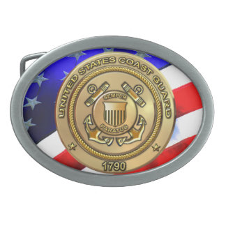 Coast Guard Oval Belt Buckle