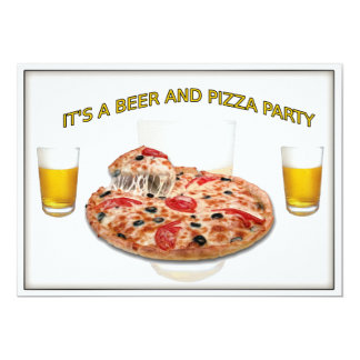 Coast Guard PO1 Beer and Pizza Party Invitation