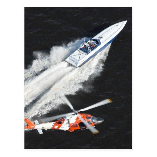 Coast Guard Pursuing Gunboat Post Card