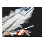 Coast Guard Pursuing Gunboat Postcard