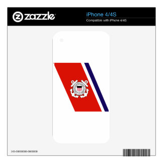 Coast Guard Racing Stripe - Left Decal For The iPhone 4