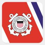 Coast Guard Racing Stripe - Left Square Sticker