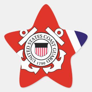 Coast Guard Racing Stripe - Left Star Sticker