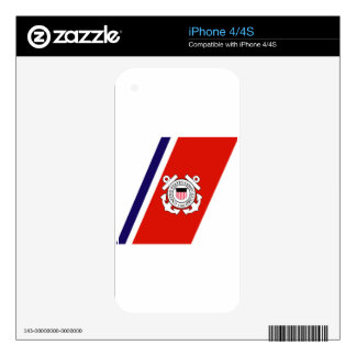 Coast Guard Racing Stripe - Right Decals For The iPhone 4