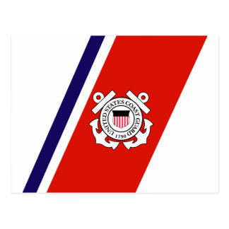 Coast Guard Racing Stripe - Right Postcard