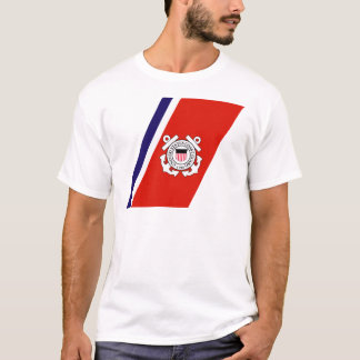 Coast Guard Racing Stripe - Right T-Shirt
