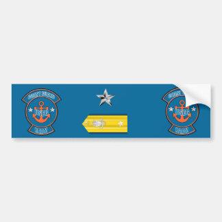 Coast Guard RAdm Anchor Emblem Bumper Sticker