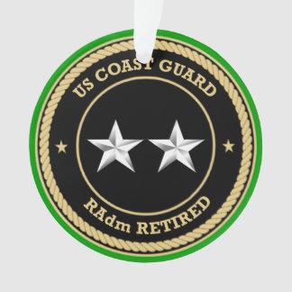 Coast Guard RAdm Retired Black Shield