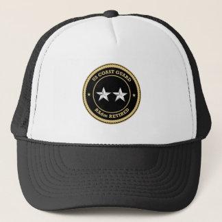 Coast Guard RAdm Retired Black Shield Trucker Hat