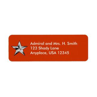 Coast Guard Rear Admiral Return Address Label
