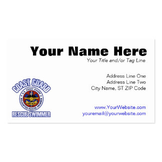 Coast Guard Rescue Swimmer Business Cards